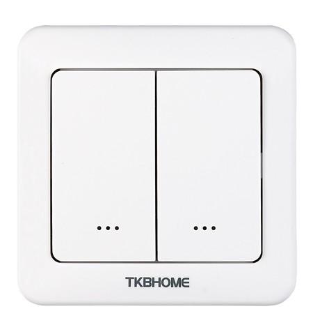 TKB nástenný vypínač, okrúhly - 1 záťaž, 2 tlačidlá