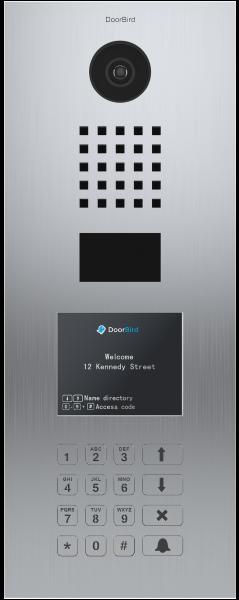 DoorBird D21DKV videovrátnik nehrdzavejúca oceľ (vertikálne rozloženie)