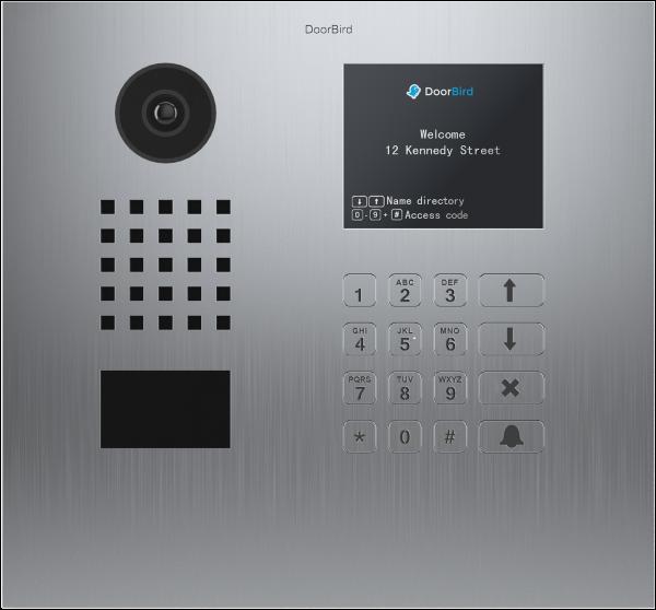DoorBird D21DKH videovrátnik nehrdzavejúca oceľ (horizontálne rozloženie)