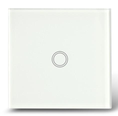 Makegood - Dotykový vypínač, sklenený panel, jeden okruh, biely