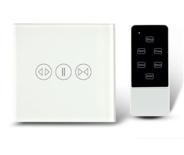 Makegood - Dotykový ovládač na rolety / žalúzie s DO, sklenený panel, biely