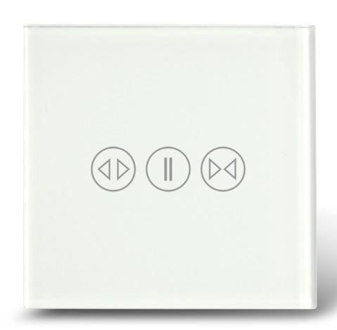 Makegood - Dotykový ovládač na rolety / žalúzie, sklenený panel, biely