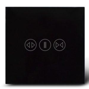 Makegood - Dotykový ovládač na rolety / žalúzie, sklenený panel, čierny