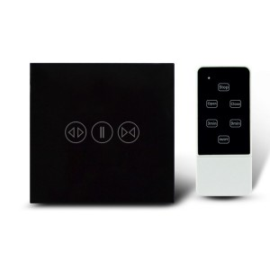 Makegood - Dotykový ovládač na rolety / žalúzie s DO, sklenený panel, čierny