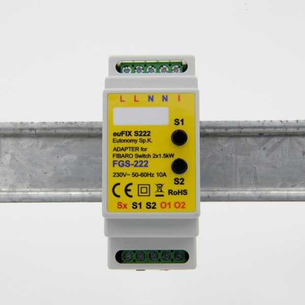 eutonomy-adapter-din-for-fibaro-relay-switch-fgs-222-with-buttons