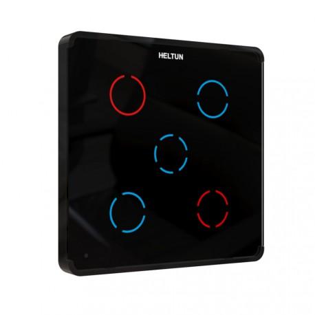 Heltun - Z-Wave nástenný vypínač, 5 svetiel, čierny
