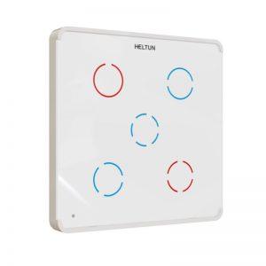 Heltun Z-Wave dotykový vypínač, 5 svetiel, biely