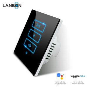 Lanbon - dotykový ovládač roliet / žalúzií s WiFi, séria L6, čierny