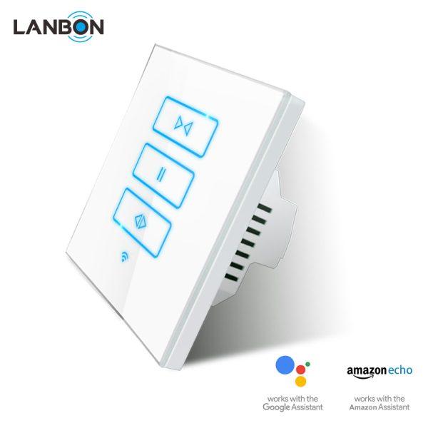 Lanbon - dotykový ovládač roliet / žalúzií s WiFi, séria L6, biely