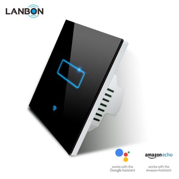 Lanbon - dotykový vypínač s WiFi, séria L6 – jeden okruh, čierny