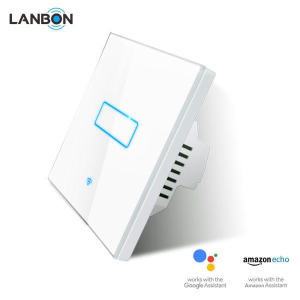 Lanbon - dotykový vypínač s WiFi, séria L6 – jeden okruhy, biely