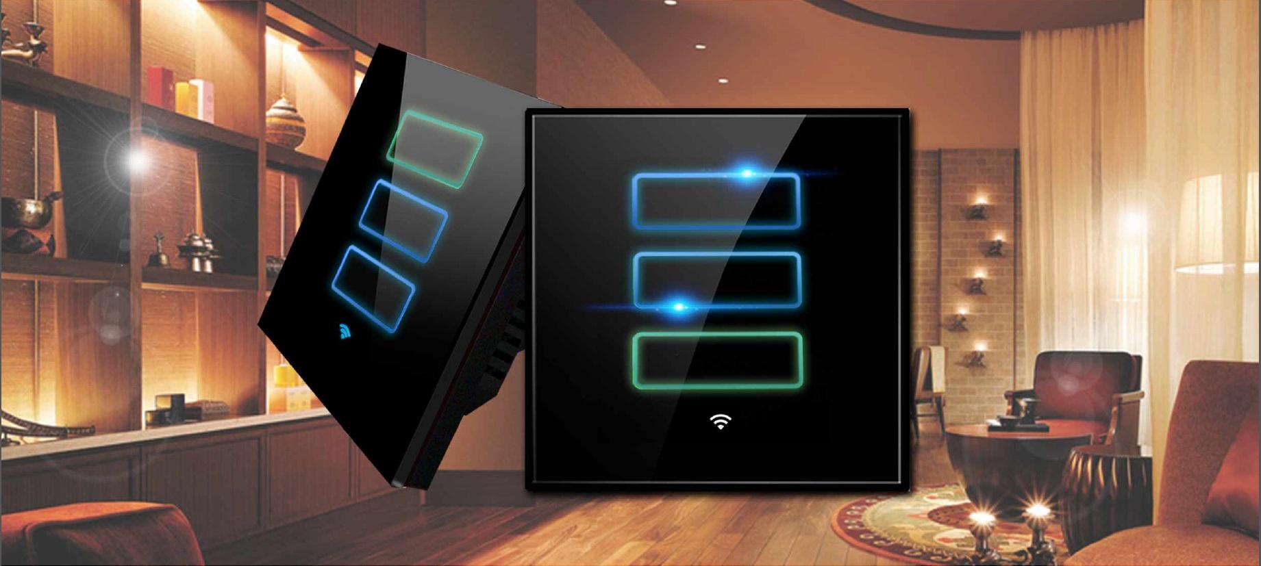 Lanbon dotykový vypínač s WiFi, séria L6, 3 okruhy, biely 1