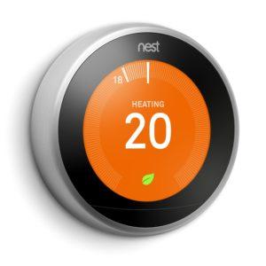 Google Nest termostat strieborný, 3. generácia s Opentherm, EU verzia