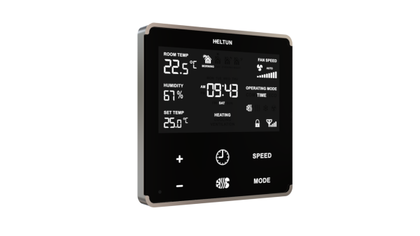 Heltun HE-FT01 fan coil termostat - Black