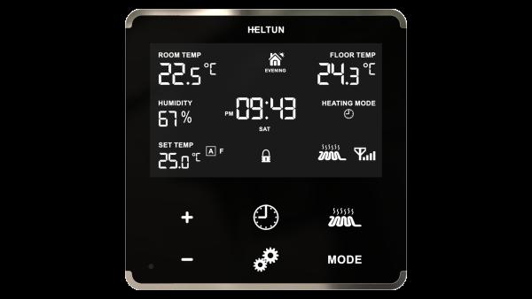 Heltun dotykovy termostat na podlahove vykurovanie HE-HT01 - Black Glass