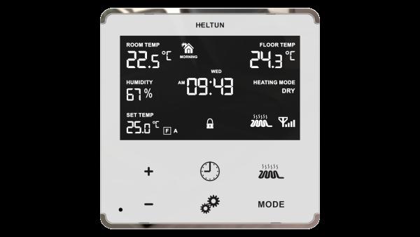 Heltun dotykovy termostat na podlahove vykurovanie HE-HT01 - White Glass