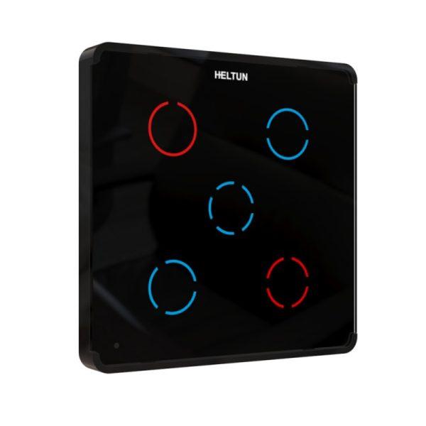 Heltun Z-Wave dotykový vypínač, 5 svetiel, čierny