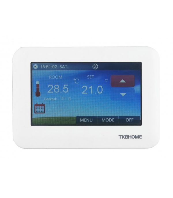 TKB termostat s dotykovým displejom pre podlahové kúrenie 1