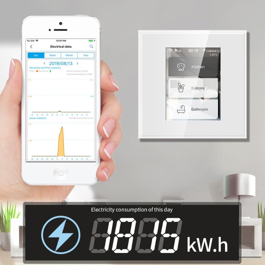 2020 LanboLanbon L8 dotykovy vypinac ovladac termostat s displejom