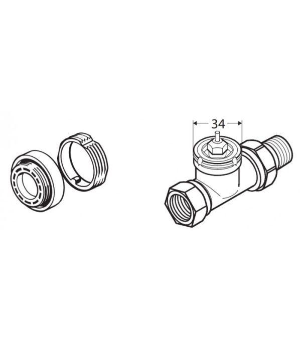 Danfoss adaptér pre ventily typu RAV a RAVL