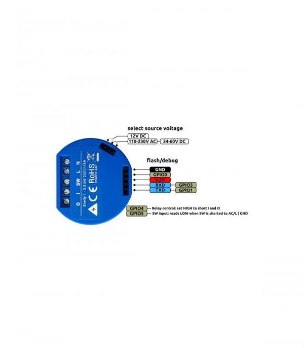 image-Shelly 1 - spínací modul 1x 16A (WiFi)