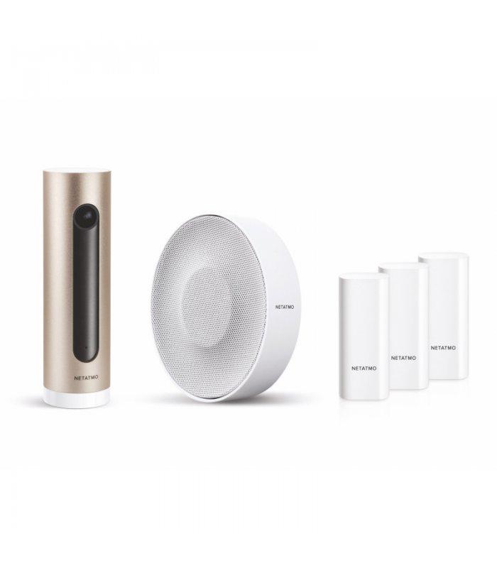 Netatmo Smart Alarm Systém - kamera, siréna a 3x dverový / oknový senzor