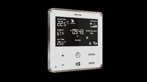 Heltun HE-FT01 fan coil termostat - White side
