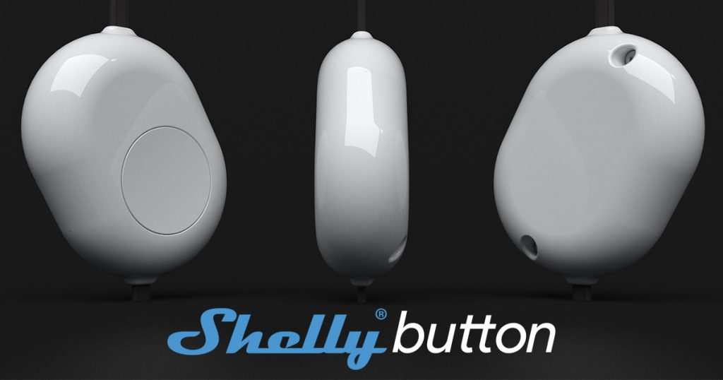 Shelly Button kryt s tlacidlom pre Shelly 1 Shelly 1PM biely