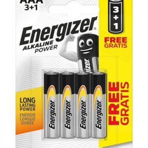 Energizer AAA-LR03 alkalická batéria, 1,5V, 3+1ks