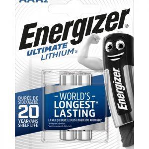Energizer AAA-LR03 lítiová batéria, 1,5V, 2ks