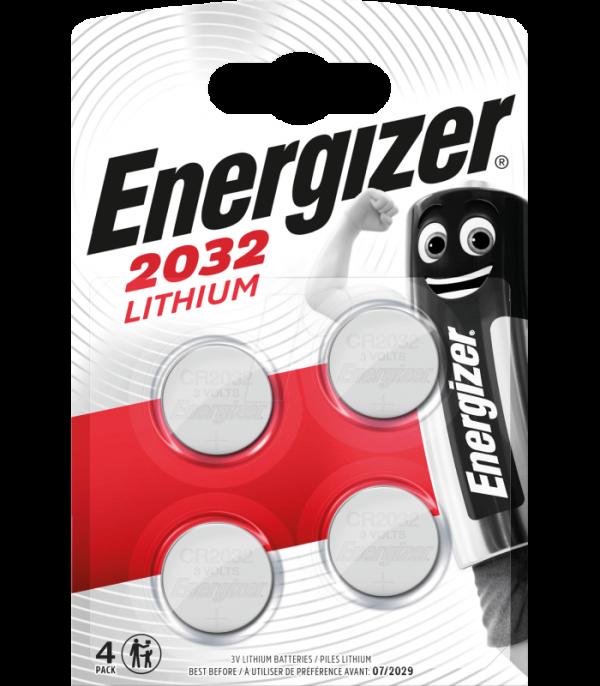 Energizer CR2032 lítiová batéria, 3V, 4 ks