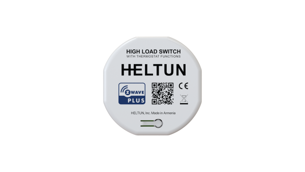 Heltun-High-Load-Switch-Z-Wave-spinacie-rele-16A-HE-HLS01 - Front