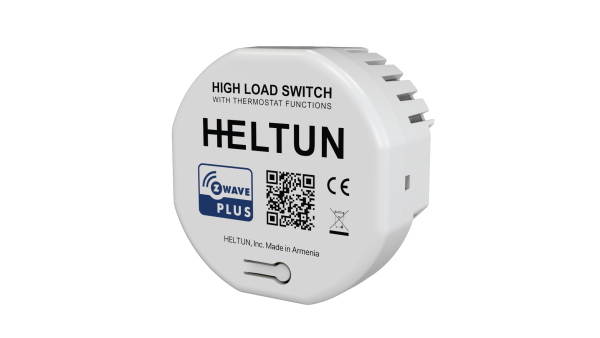 Heltun-High-Load-Switch-Z-Wave-spinacie-rele-16A-HE-HLS01 - Front left