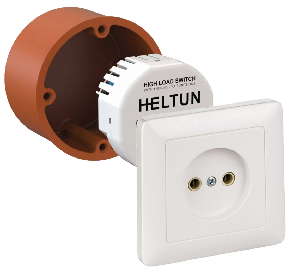 Heltun-High-Load-Switch-Z-Wave-spinacie-rele-16A-HE-HLS01 - Junction box