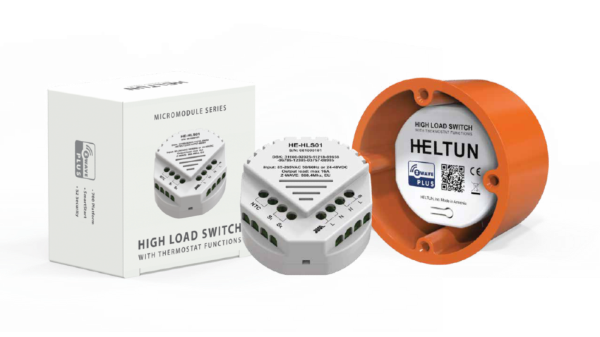 Heltun-High-Load-Switch-Z-Wave-spinacie-rele-16A-HE-HLS01 - With box