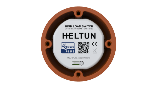 Heltun-High-Load-Switch-Z-Wave-spinacie-rele-16A-HE-HLS01 - With holder