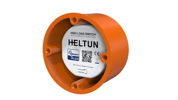 Heltun-High-Load-Switch-Z-Wave-spinacie-rele-16A-HE-HLS01 - With holder Inclin