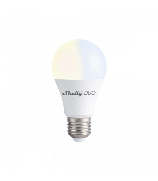 Shelly DUO inteligentná viac-bielna WiFi žiarovka