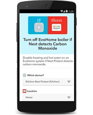 Vypni EvoHome kotol keď Nest Protect deteguje vysokú úroveň CO