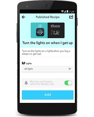 Zapni Philips Hue svetlá, ak Fitbit zistí, že ste vstali z postele