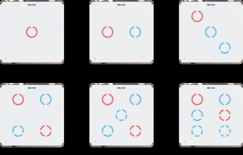 HELTUN Z-Wave dotykový vypínač, 3 tlačidlá, Zwave 700, čierny 3