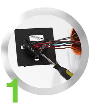 Heltun Z-Wave dotykový vypínač, 3 tlačidlá, Zwave 700, čierny 4