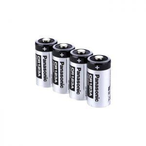 Panasonic CR123A lítiová batéria, 3V, 4 ks