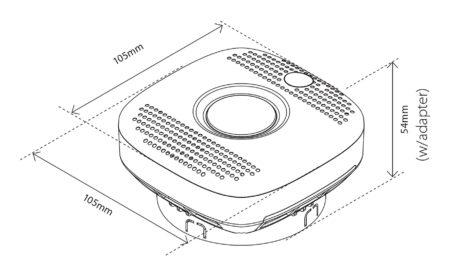 Heatit-Z-Smoke-detektor-dymu-a-poziaru-230V-rozmery