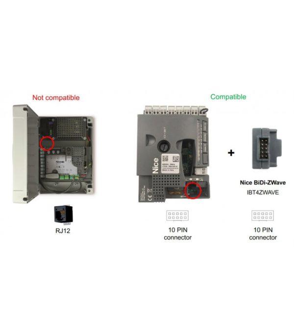 FIBARO BiDi Zwave modul na ovládanie NICE motorov