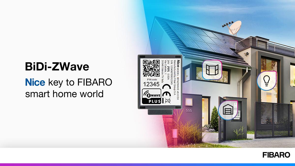 FIBARO BiDi Zwave modul na ovládanie NICE motorov 1