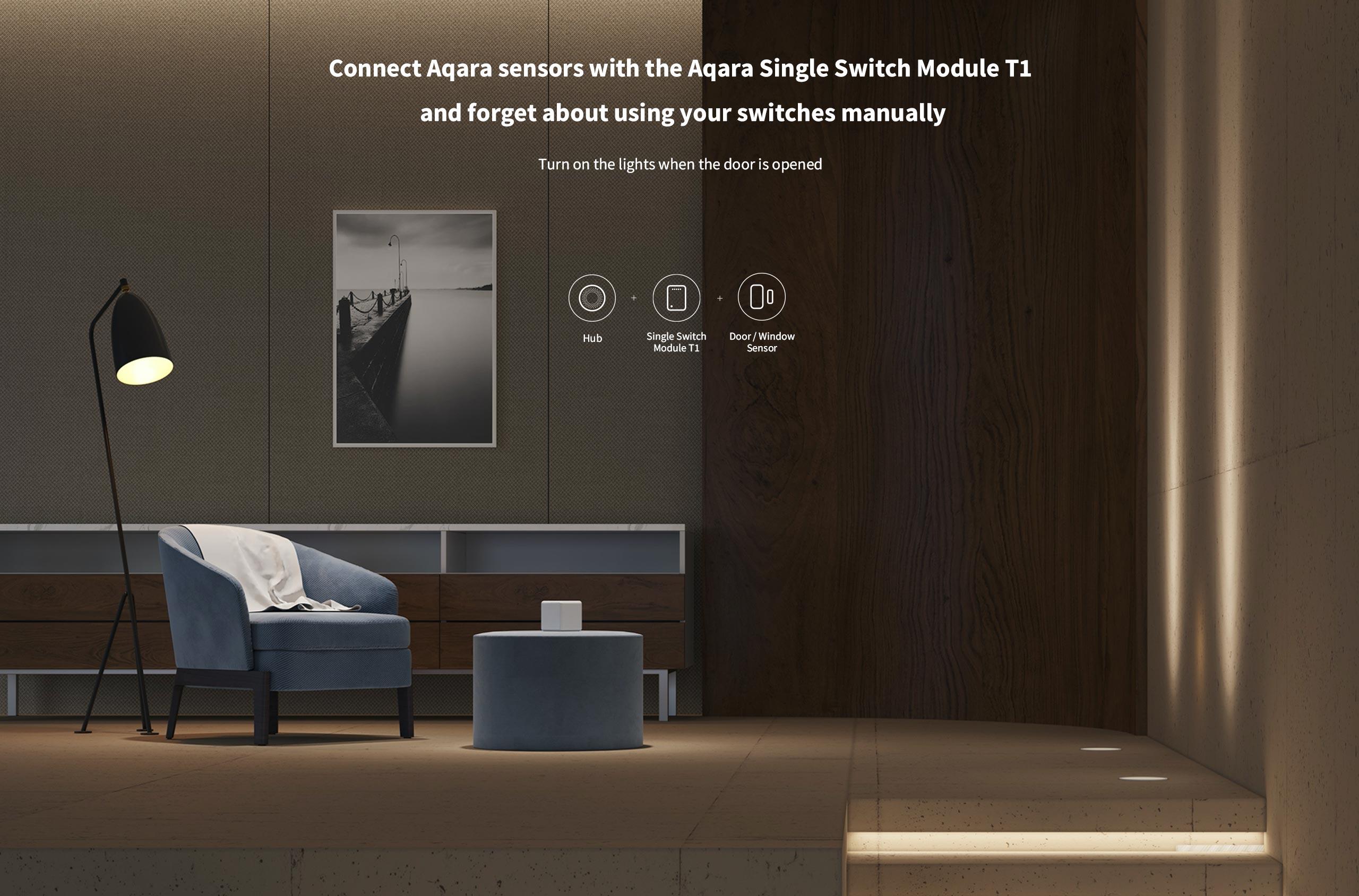 Aqara Single Switch Module T1, ZigBee jedno-kanálový spínač bez neutrálu 1