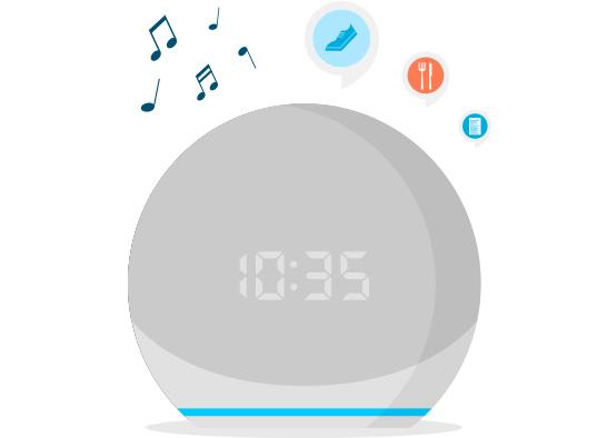 Amazon Echo Dot 4. generácia s hodinami, Twilight Blue 3