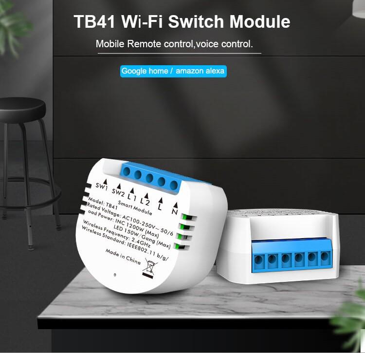 Kesen spínacie relátko na 2 okruhy, WiFi, Tuya a Smart Life kompatibilný 1