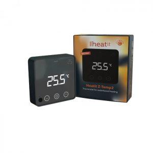 HeatIt Z-Temp2, batériový Z-Wave Plus V2 termostat, čierny